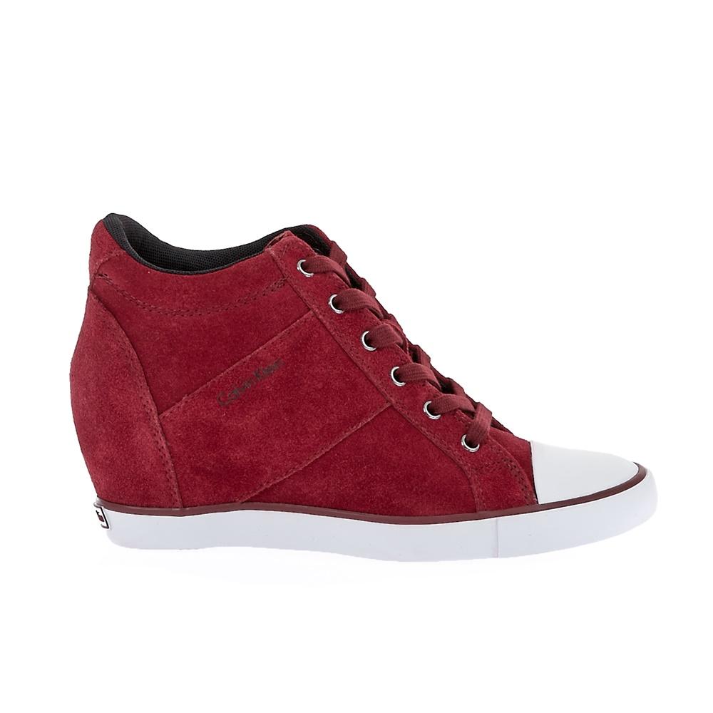 CALVIN KLEIN JEANS - Γυναικεία sneakers Calvin Klein Jeans κόκκινα γυναικεία παπούτσια sneakers