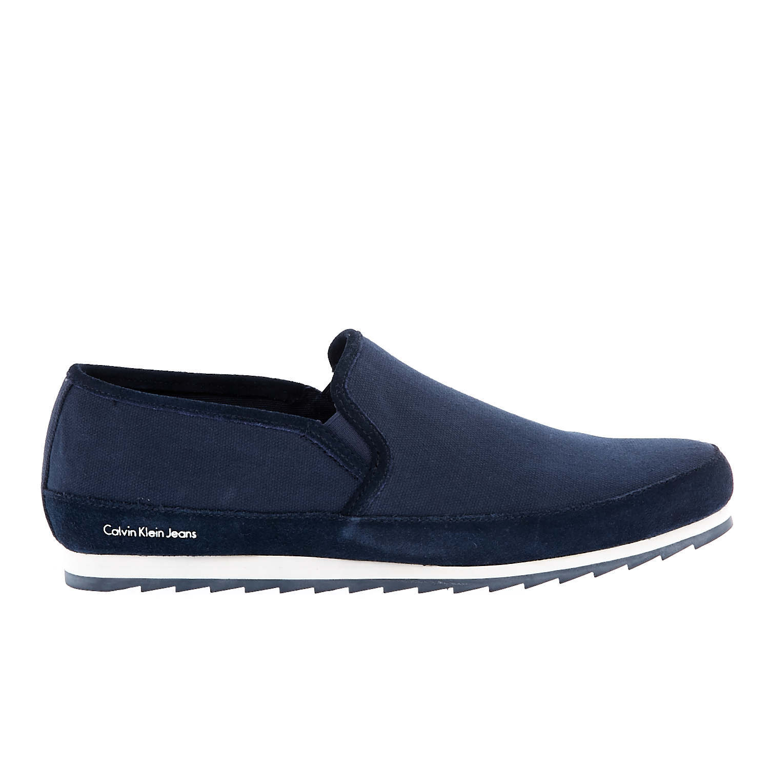 CALVIN KLEIN JEANS - Ανδρικά loafers CALVIN KLEIN JEANS WOLF μπλε ανδρικά παπούτσια μοκασίνια loafers