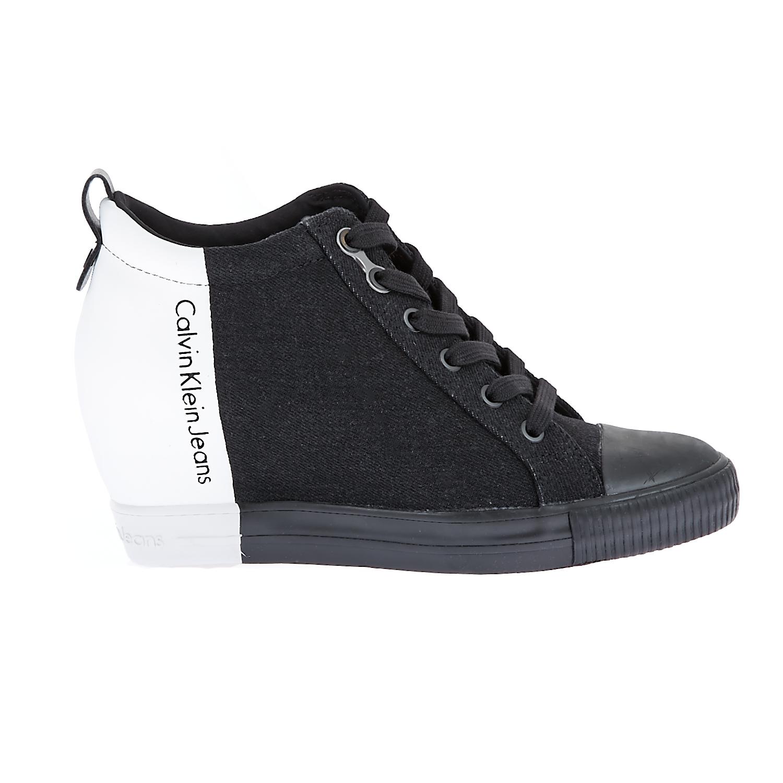 CALVIN KLEIN JEANS – Γυναικεία sneakers Calvin Klein Jeans μαύρα-λευκά