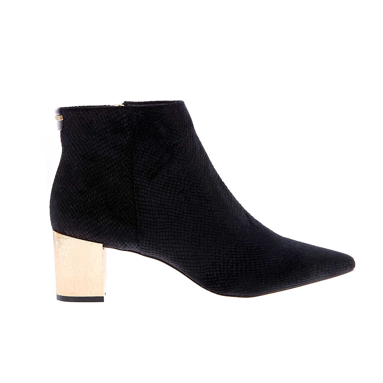 CALVIN KLEIN JEANS - Γυναικεία μποτάκια CALVIN KLEIN JEANS NARLA μαύρα γυναικεία παπούτσια μπότες μποτάκια μποτάκια