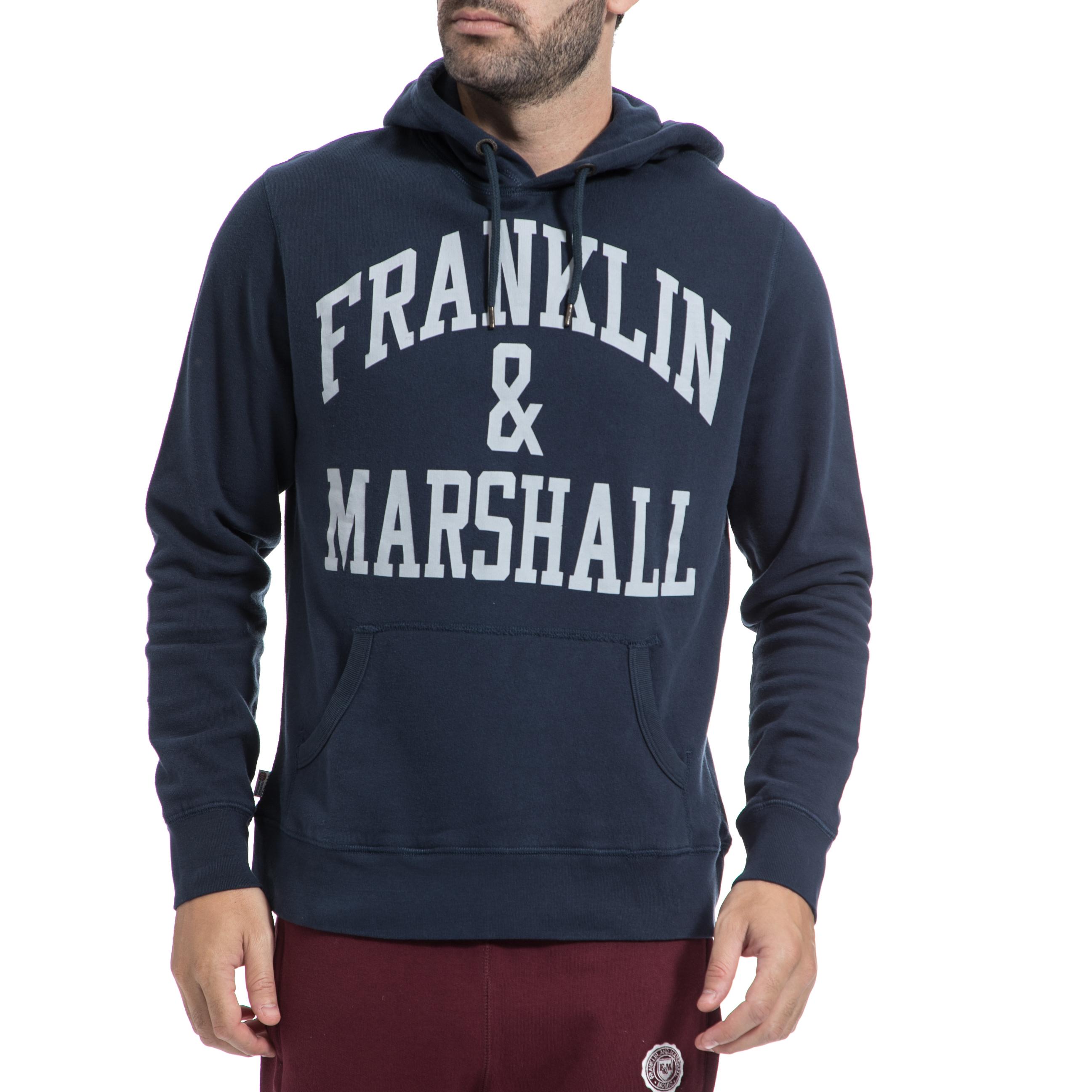 FRANKLIN & MARSHALL - Αντρικό φούτερ FRANKLIN & MARSHALL μπλε