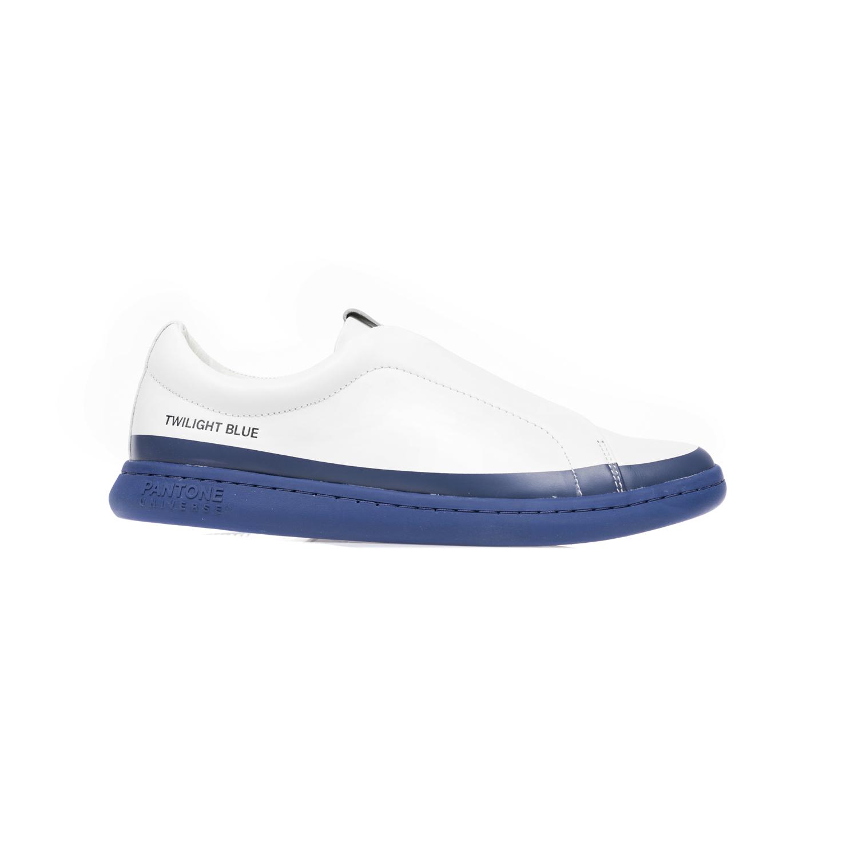 PANTONE - Unisex παπούτσια PANTONE λευκά-μπλε γυναικεία παπούτσια sneakers