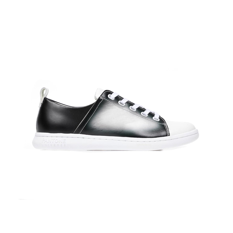 PANTONE - Unisex παπούτσια PANTONE λευκά-μαύρα γυναικεία παπούτσια sneakers