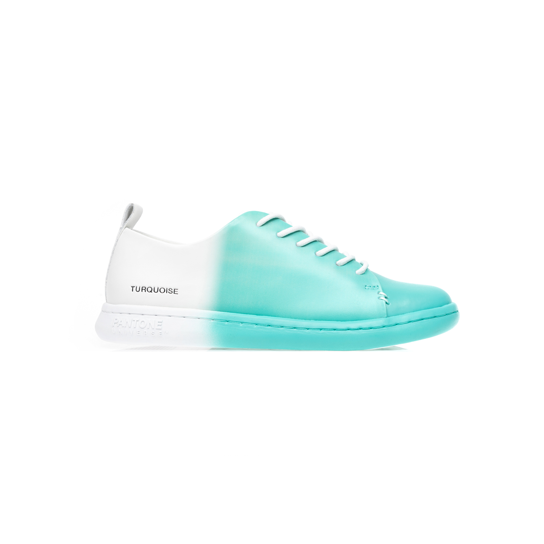 PANTONE - Unisex sneakers PANTONE πράσινα-λευκά γυναικεία παπούτσια sneakers