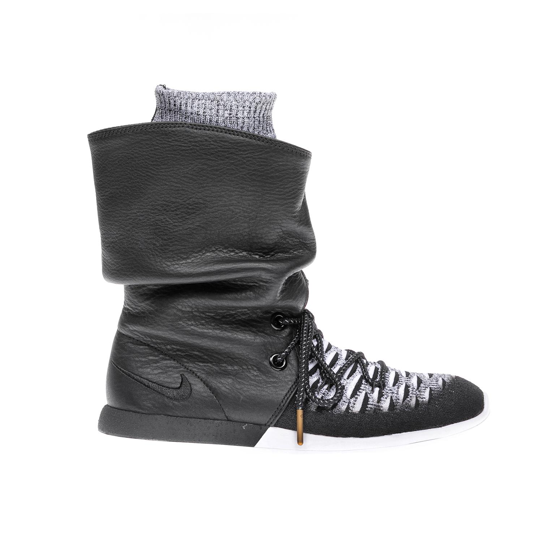 NIKE – Γυναικεία αθλητικά παπούτσια NIKE ROSHE TWO HI FLYKNIT μαύρα-γκρι