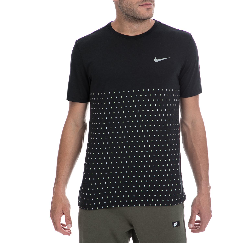 NIKE - Αντρική μπλούζα NIKE μαύρη ανδρικά ρούχα αθλητικά t shirt