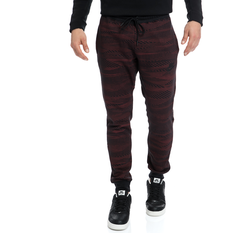 NIKE - Αντρικό αθλητικό παντελόνι NIKE μαύρο-καφέ ανδρικά ρούχα αθλητικά φόρμες