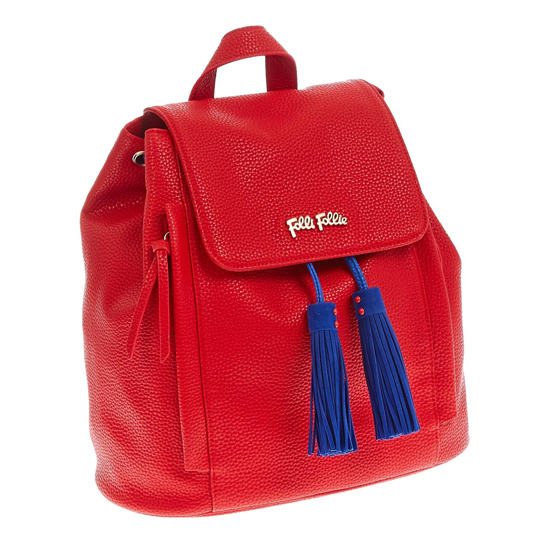 FOLLI FOLLIE - Τσάντα πλάτης Folli Follie κόκκινη γυναικεία αξεσουάρ τσάντες σακίδια πλάτης
