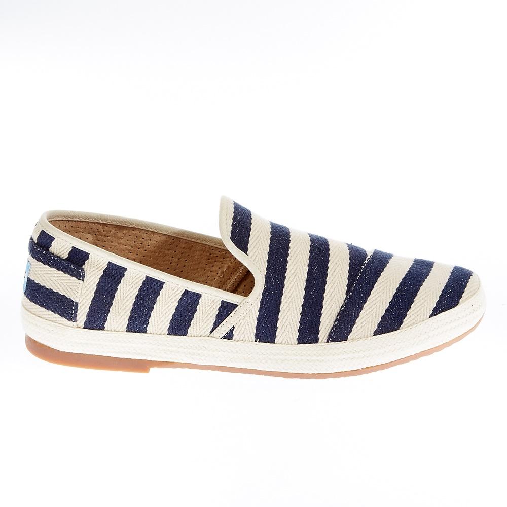 TOMS - Ανδρικά παπούτσια TOMS μπλε-λευκά ανδρικά παπούτσια μοκασίνια loafers
