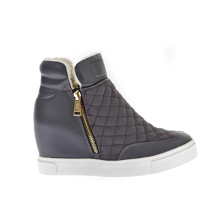JUICY COUTURE - Γυναικεία μποτάκια Juicy Couture γκρι γυναικεία παπούτσια μπότες μποτάκια μποτάκια