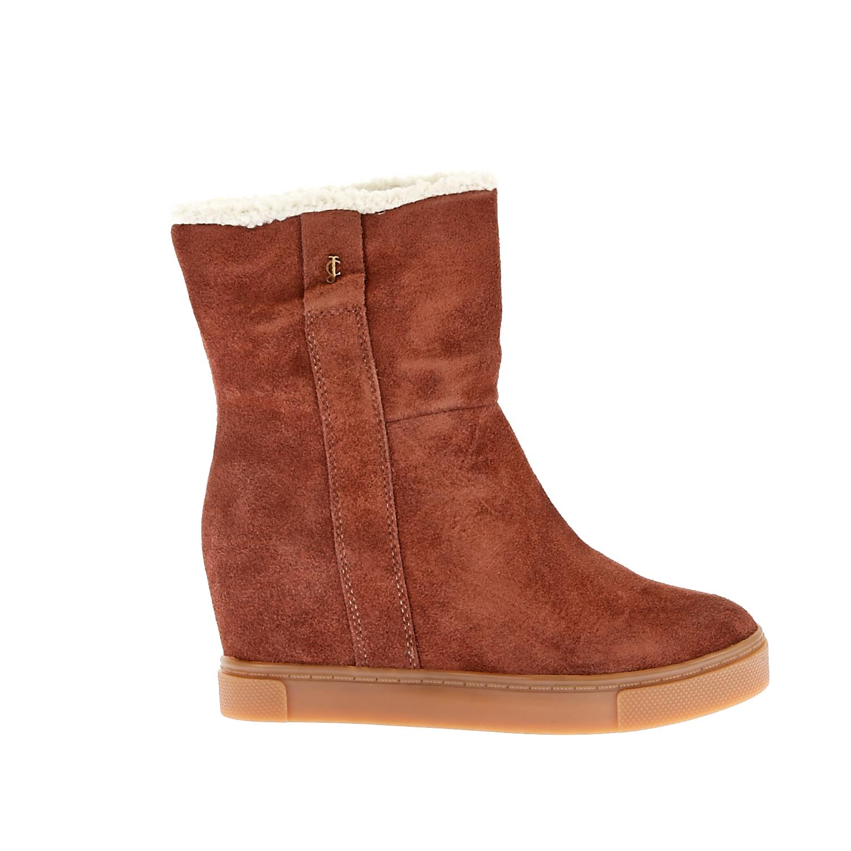JUICY COUTURE - Γυναικεία μποτάκια Juicy Couture καφέ γυναικεία παπούτσια μπότες μποτάκια μποτάκια