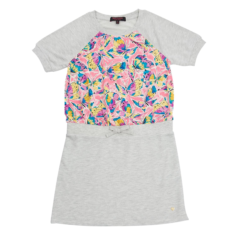 JUICY COUTURE KIDS - Παιδικό φόρεμα Juicy Couture γκρι παιδικά girls ρούχα φορέματα