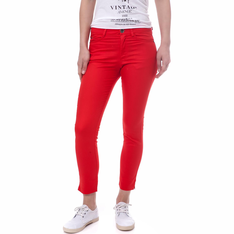 TEA & ROSE - Γυναικείο παντελόνι Tea & Rose κόκκινο γυναικεία ρούχα παντελόνια casual
