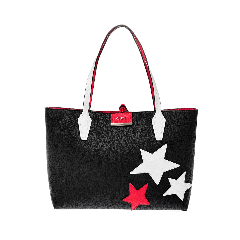 GUESS – Γυναικεία τσάντα GUESS κόκκινη-μαύρη 1508279.0-K412