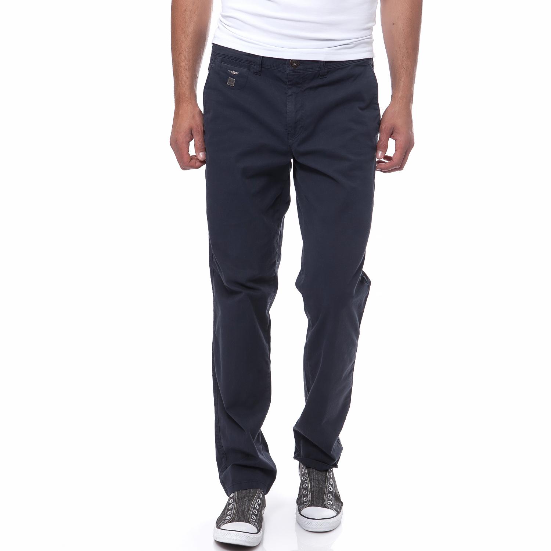AERONAUTICA MILITARE - Ανδρικό παντελόνι Aeronautica Militare μπλε ανδρικά ρούχα παντελόνια casual