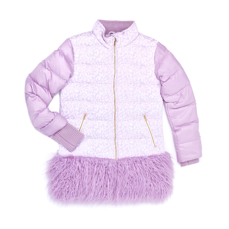JUICY COUTURE KIDS - Παιδικό μπουφάν JUICY COUTURE KIDS μοβ
