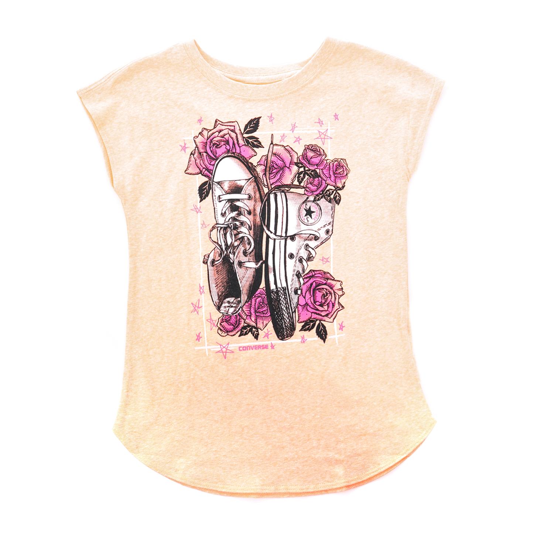 CONVERSE - Παιδική μπλούζα CONVERSE μπεζ