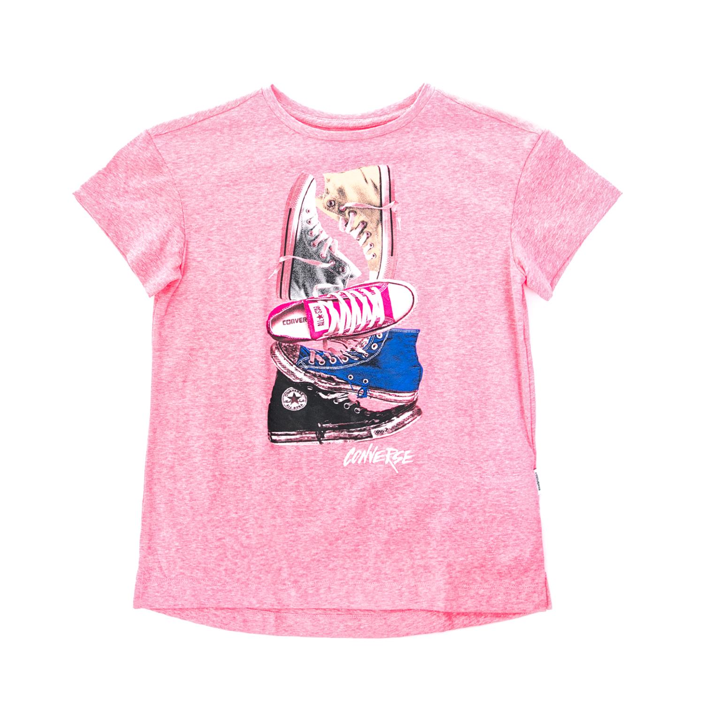 CONVERSE - Παιδική μπλούζα CONVERSE ροζ αθλητική