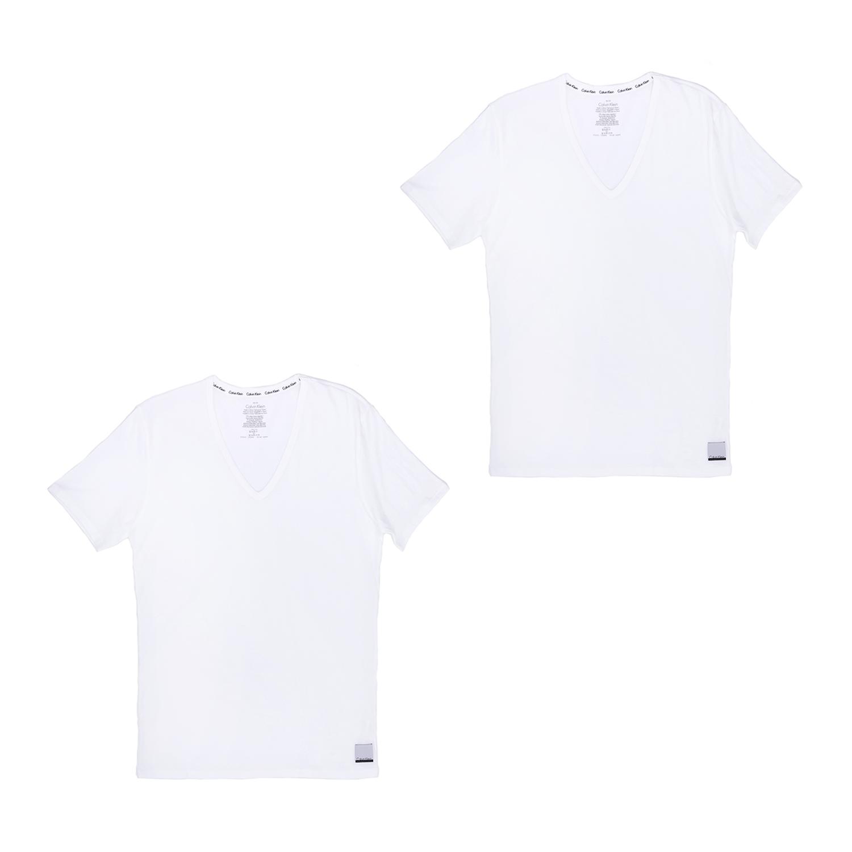 CK UNDERWEAR – Ανδρικό σετ φανέλες Calvin Klein λευκές