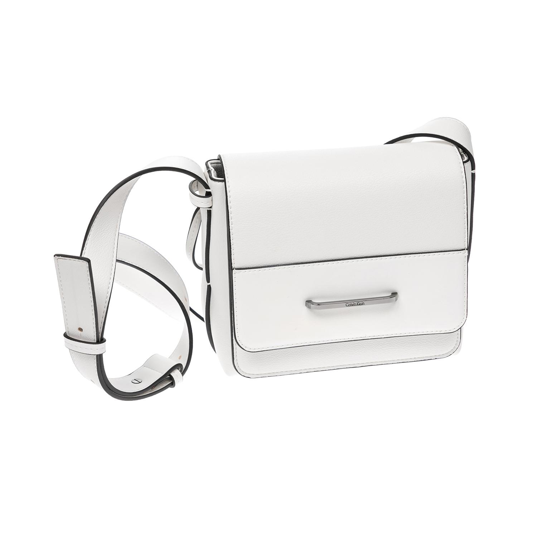 CALVIN KLEIN JEANS – Γυναικεία τσάντα CALVIN KLEIN JEANS άσπρη 1522652.0-0093