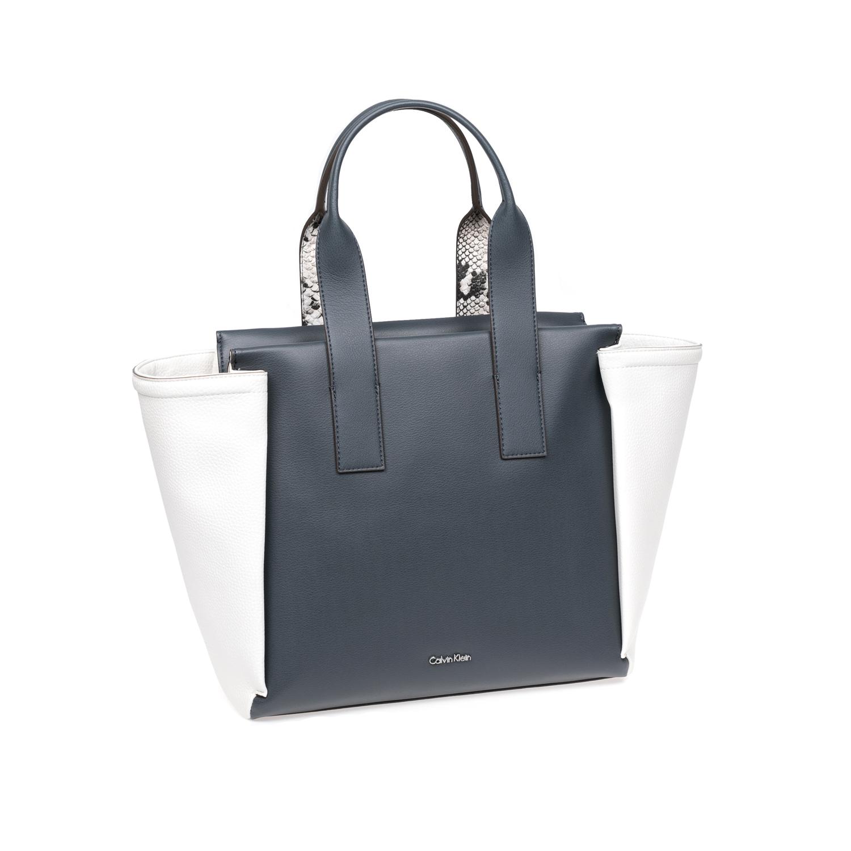 CALVIN KLEIN JEANS – Γυναικεία τσάντα Calvin Klein Jeans μπλε-άσπρη 1522678.0-0019