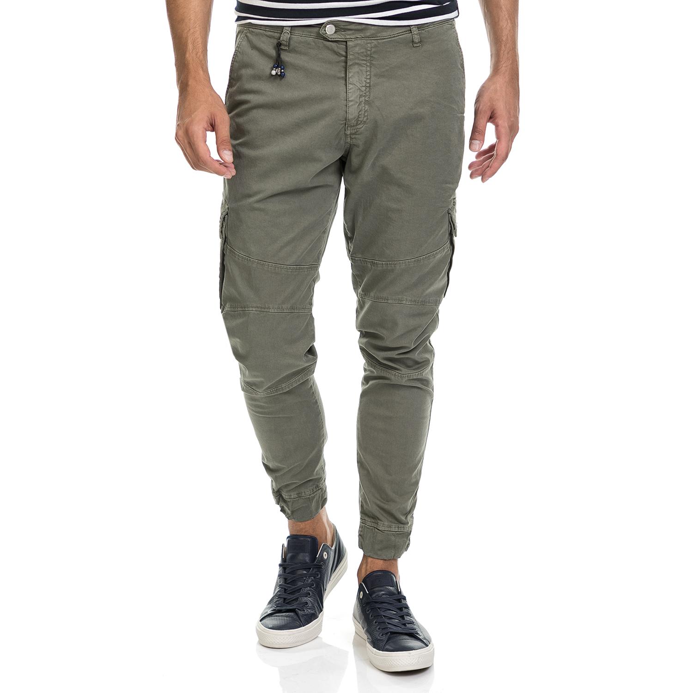 SSEINSE - Αντρικό παντελόνι CARGO SSEINSE λαδί casual