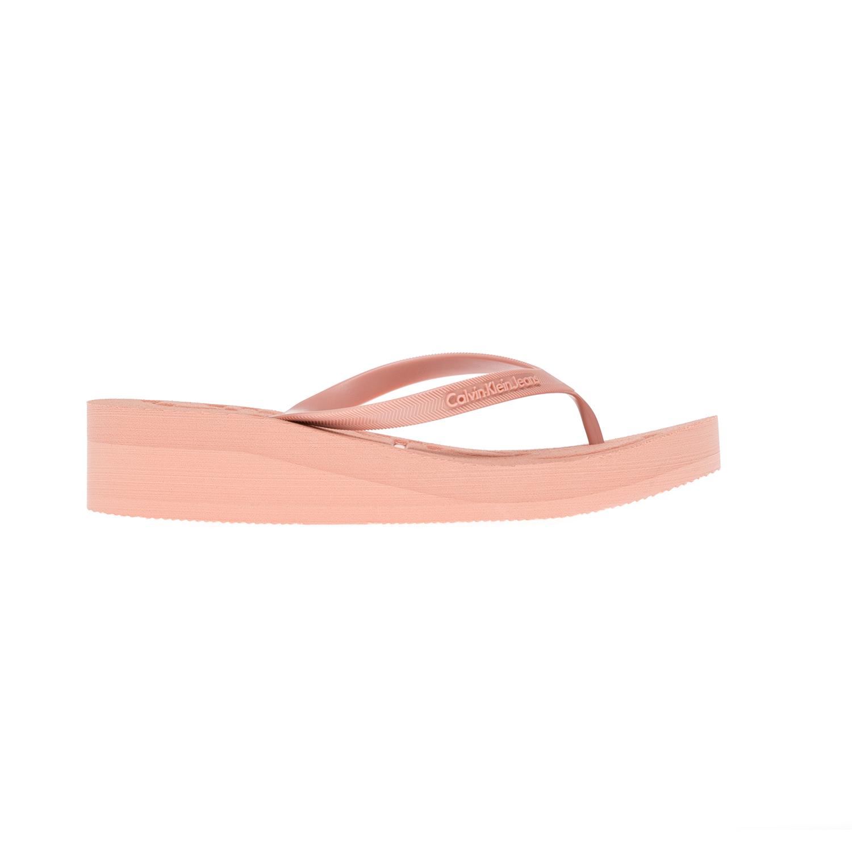 CALVIN KLEIN JEANS – Γυναικείες σαγιονάρες CALVIN KLEIN JEANS ροζ