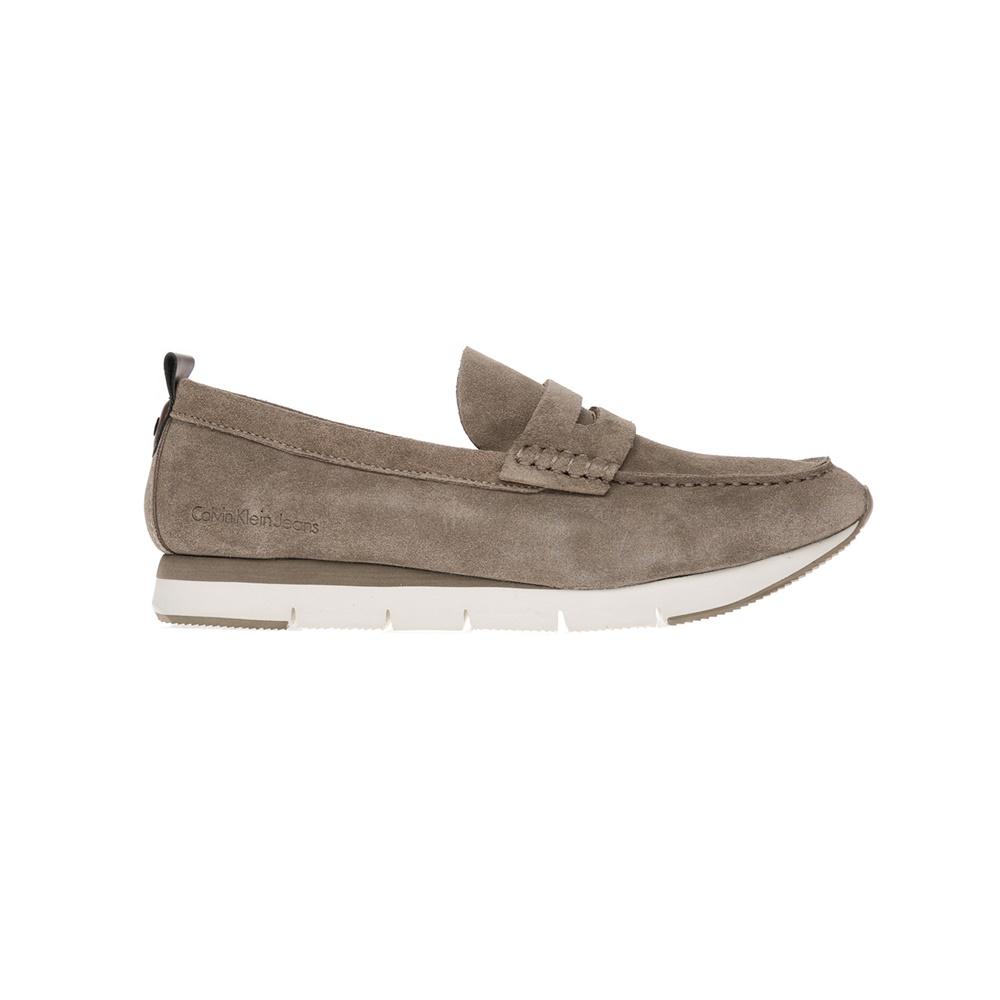 CALVIN KLEIN JEANS – Αντρικά παπούτσια CALVIN KLEIN JEANS μπεζ