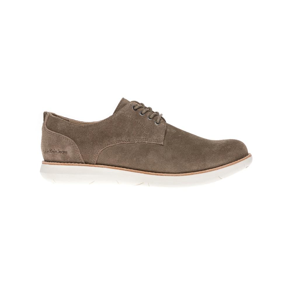 CALVIN KLEIN JEANS – Αντρικά παπούτσια CALVIN KLEIN JEANS καφέ