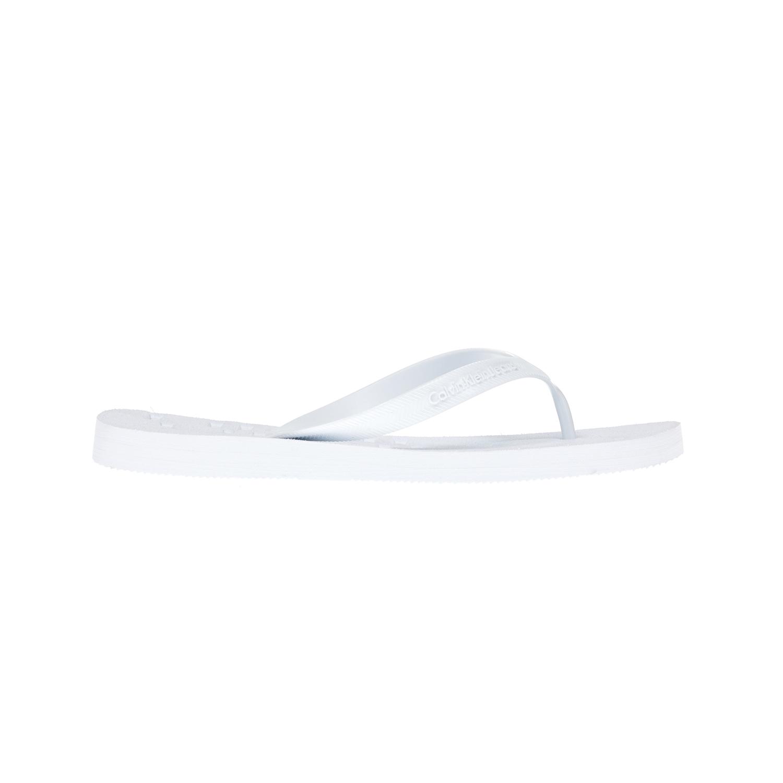 CALVIN KLEIN JEANS – Αντρικές σαγιονάρες CALVIN KLEIN JEANS άσπρες