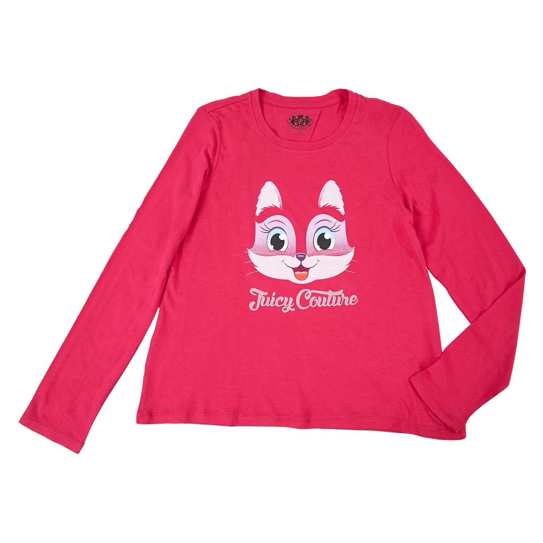JUICY COUTURE KIDS - Παιδική μπλούζα Juicy Couture φούξια