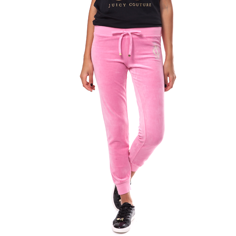 JUICY COUTURE - Γυναικείο παντελόνι Juicy Couture ροζ γυναικεία ρούχα παντελόνια φόρμες