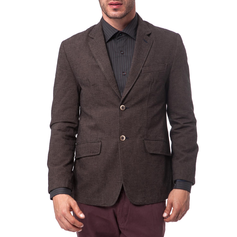 DORS - Ανδρικό σακάκι Dors καφέ ανδρικά ρούχα πανωφόρια σακάκια