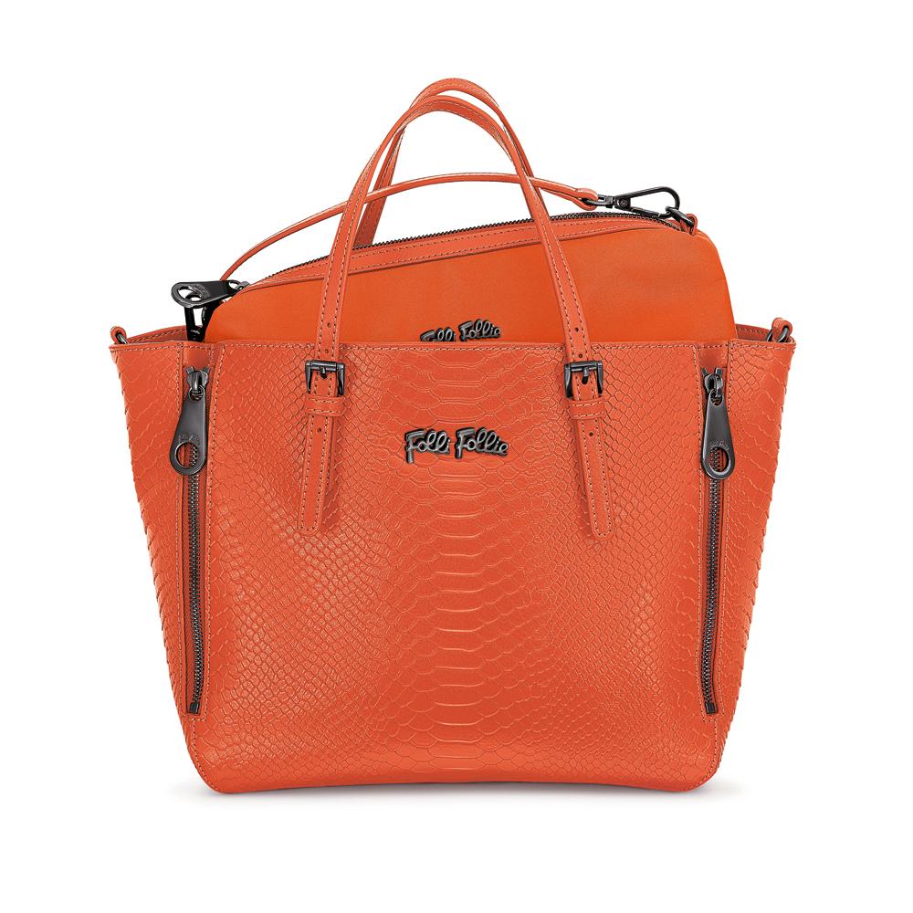 FOLLI FOLLIE – Γυναικεία τσάντα FOLLI FOLLIE πορτοκαλί 1533756.0-0000