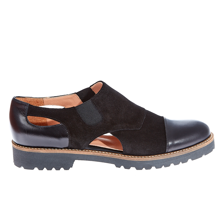 CHANIOTAKIS – Γυναικεία δερμάτινα παπούτσια Chaniotakis μαύρα