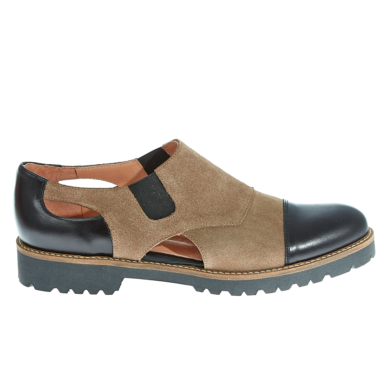 CHANIOTAKIS - Γυναικεία δερμάτινα παπούτσια Chaniotakis μπεζ