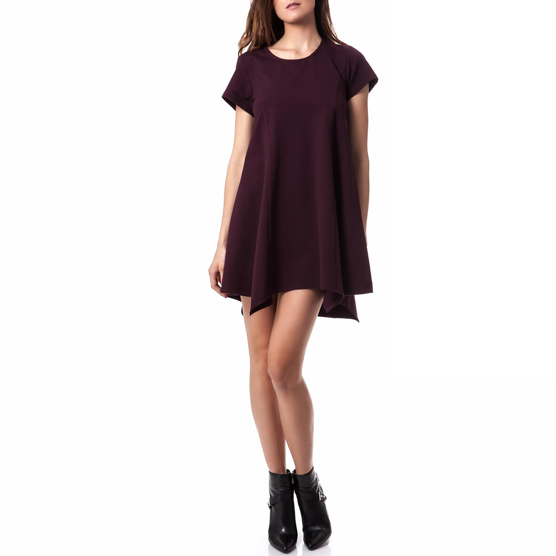 TEA & ROSE - Γυναικείο φόρεμα Tea & Rose μπορντώ γυναικεία ρούχα φορέματα μίνι