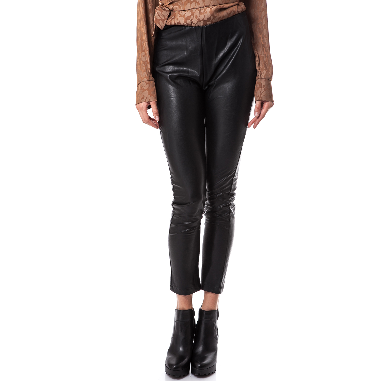 TEA & ROSE - Γυναικείο παντελόνι Tea & Rose μαύρο γυναικεία ρούχα παντελόνια κολάν