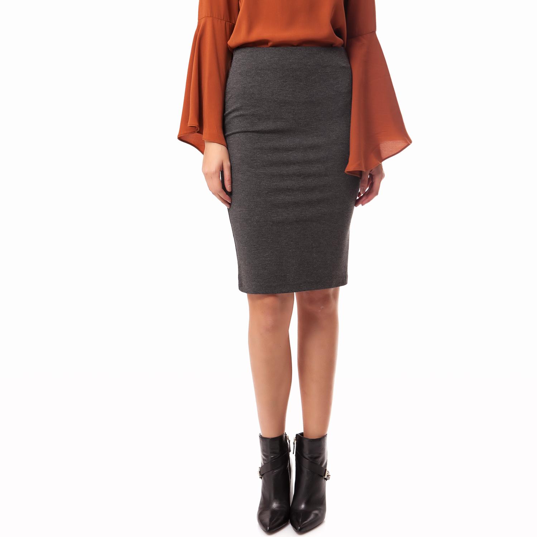 MY TIFFANY - Γυναικεία φούστα My Tiffany γκρι γυναικεία ρούχα φούστες μέχρι το γόνατο