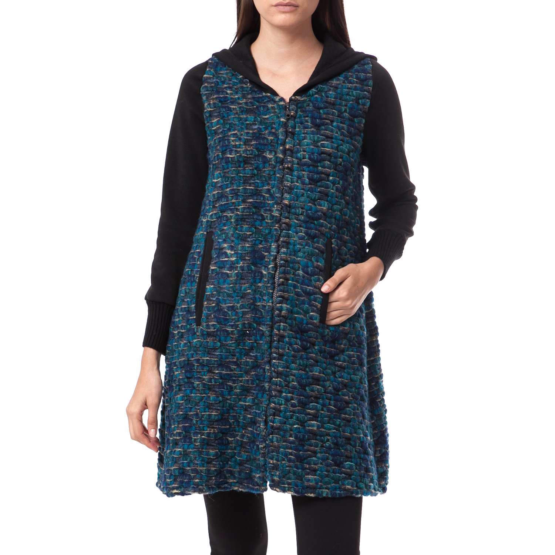 FEEL CUTE - Γυναικεία ζακέτα Feel Cute μπλε γυναικεία ρούχα πλεκτά ζακέτες ζακέτες