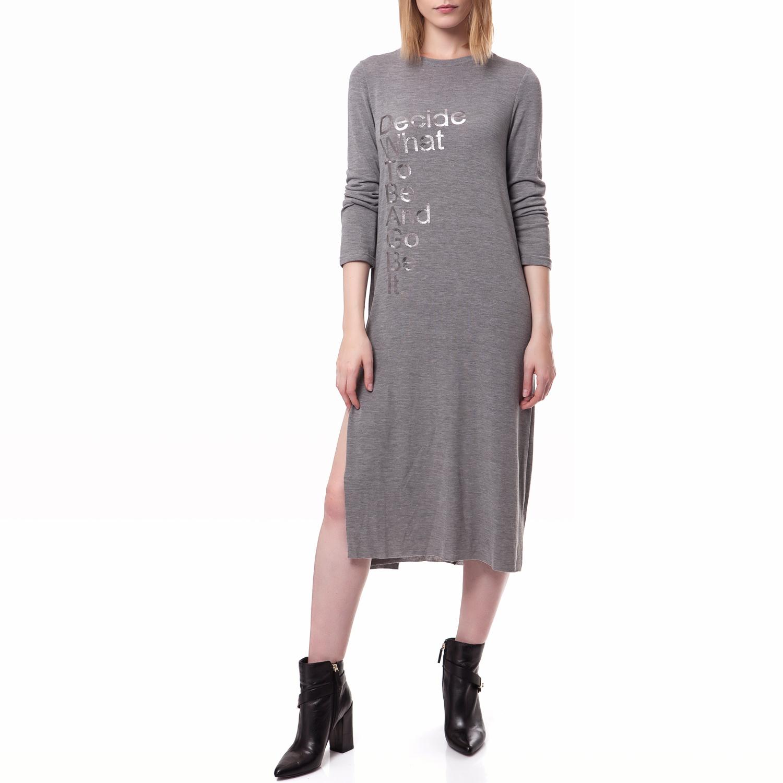 FEEL CUTE - Γυναικείο φόρεμα Feel Cute γκρι