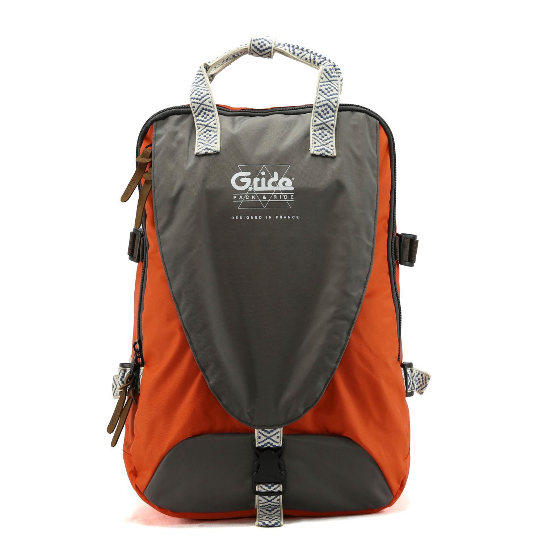 G.RIDE - Τσάντα πλάτης G.Ride καφέ-πορτοκαλί γυναικεία αξεσουάρ τσάντες σακίδια πλάτης