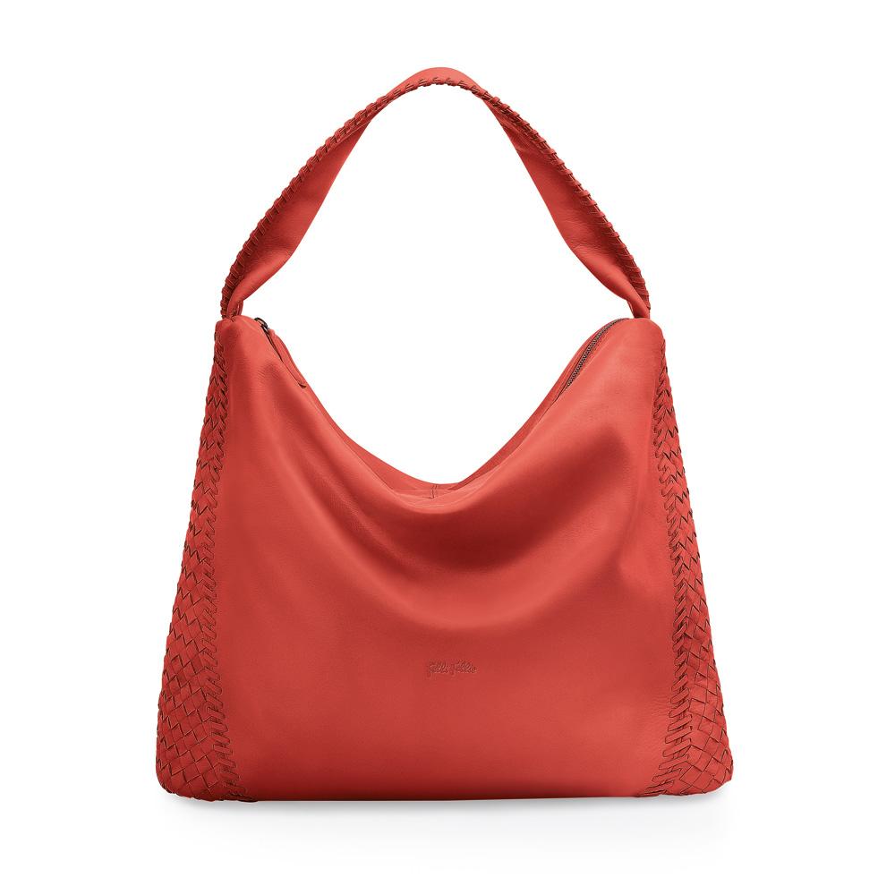 FOLLI FOLLIE - Γυναικεία τσάντα Folli Follie πορτοκαλί γυναικεία αξεσουάρ τσάντες σακίδια ωμου