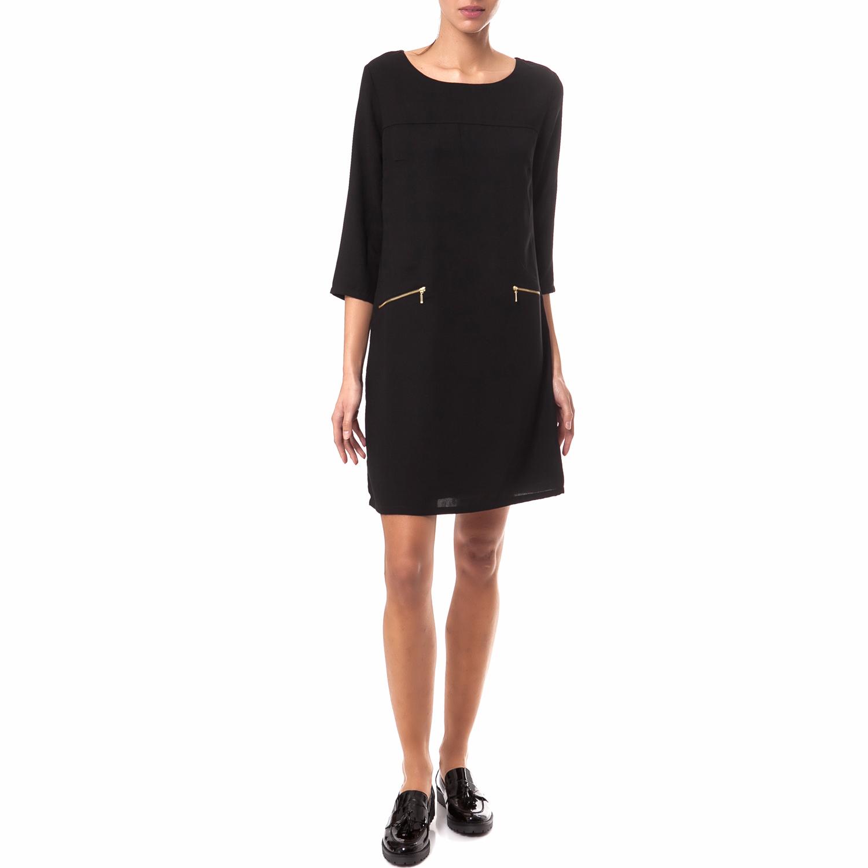 OLTRE - Γυναικείο φόρεμα OLTRE μαύρο γυναικεία ρούχα φορέματα μίνι
