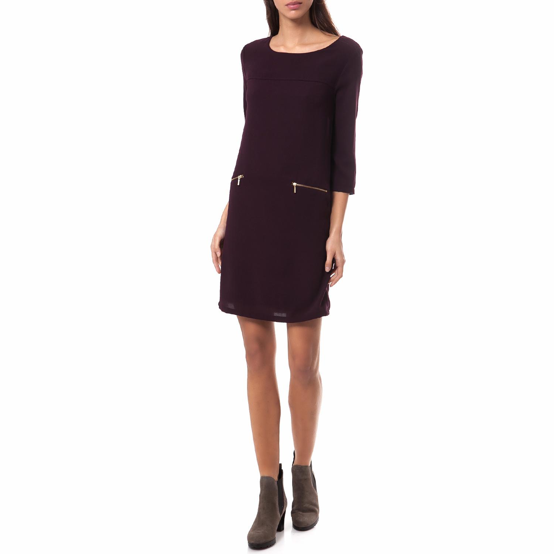 OLTRE - Γυναικείο φόρεμα OLTRE μπορντώ γυναικεία ρούχα φορέματα μίνι