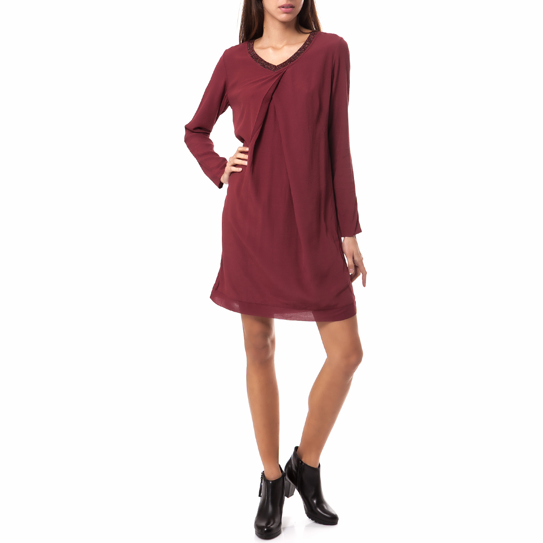 OLTRE - Γυναικείο φόρεμα OLTRE κόκκινο γυναικεία ρούχα φορέματα μίνι
