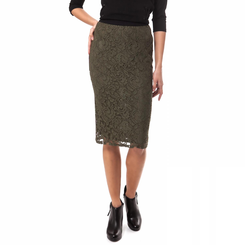 MOTIVI - Γυναικεία φούστα MOTIVI γκρι γυναικεία ρούχα φούστες μέχρι το γόνατο