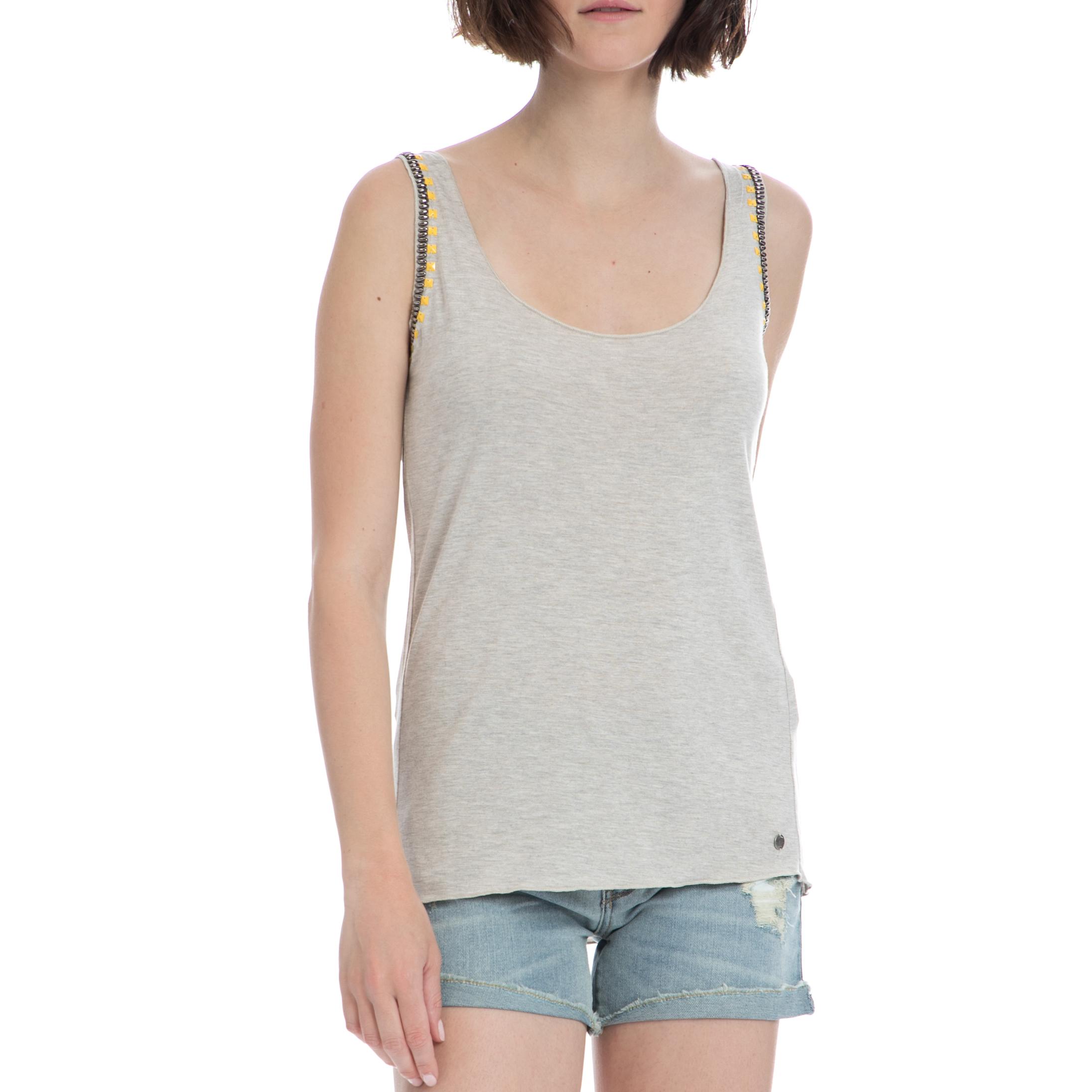 GARCIA JEANS – Γυναικείο τοπ Garcia Jeans γκρι