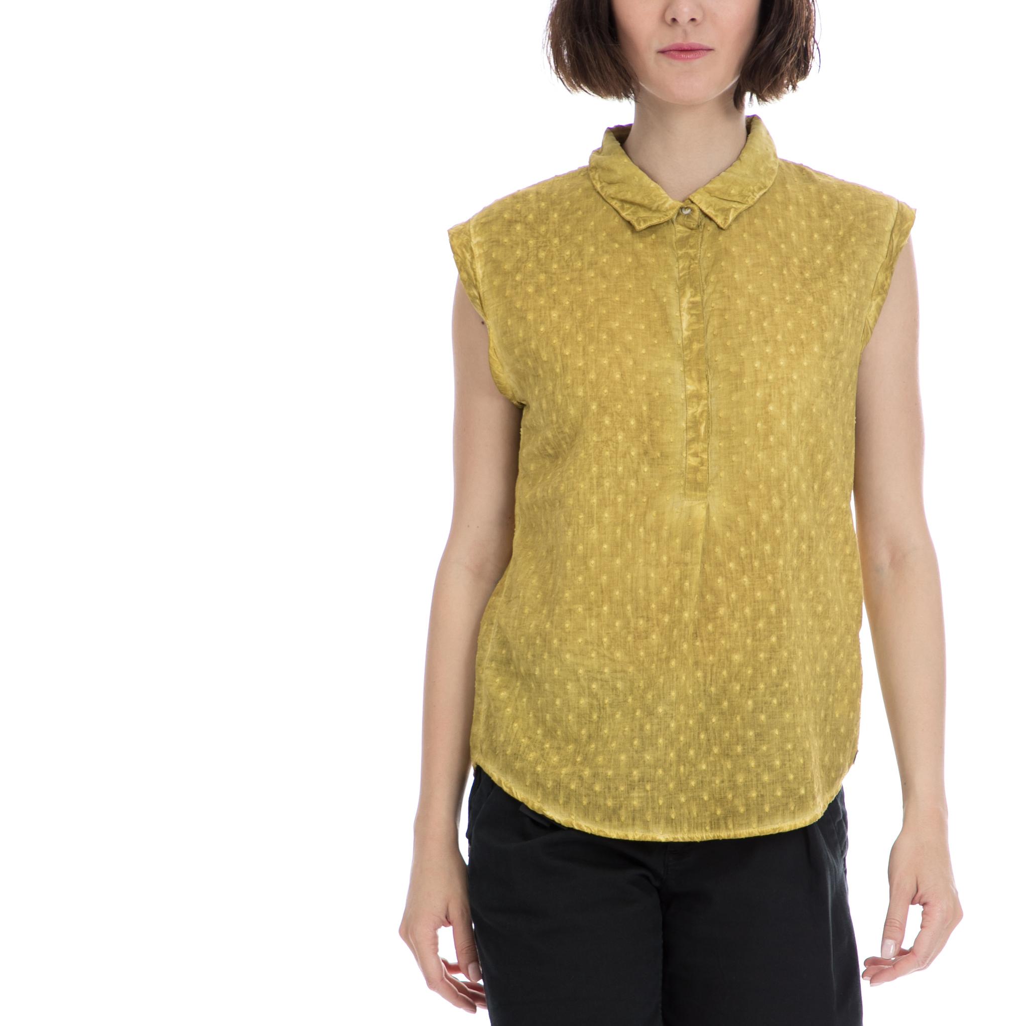 GARCIA JEANS – Γυναικείο τοπ Garcia Jeans κίτρινο