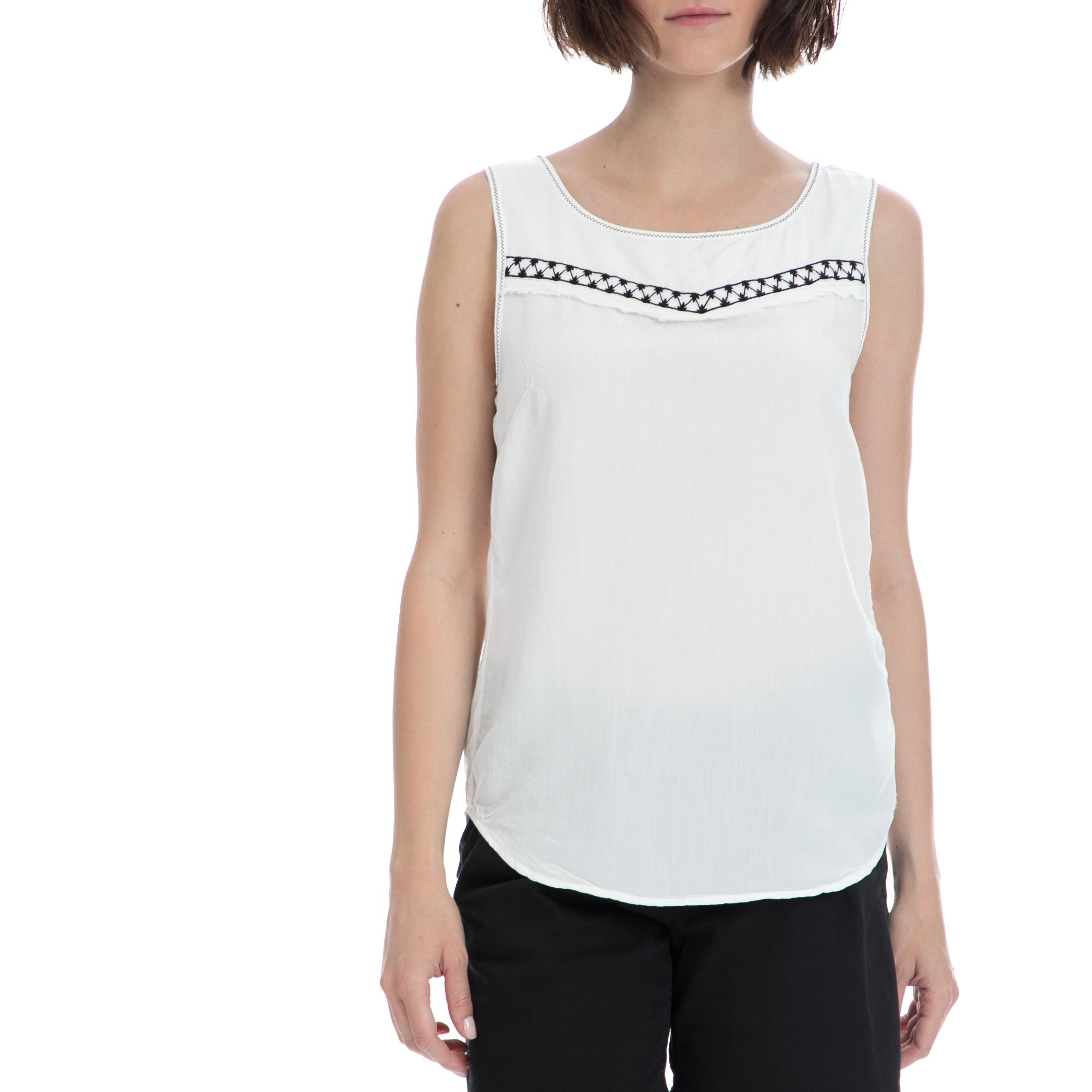 GARCIA JEANS – Γυναικείο τοπ Garcia Jeans λευκό